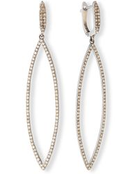 Siena Jewelry - Pavé Diamond Marquise Drop Earrings - Lyst
