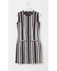 Carven Striped Tweed Mini Dress - Lyst