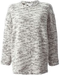 Helmut Lang Drop Shoulder Oversized Sweater - Lyst