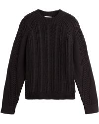 3.1 Phillip Lim Open Weave Knit Pullover - Lyst