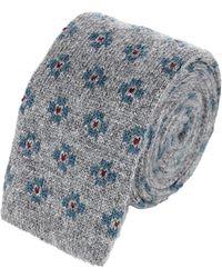 Luciano Barbera - Men's Cashmere Knit Square Necktie - Lyst