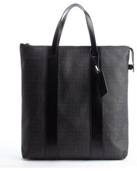 Fendi Black Zucca Print Canvas and Leather Oversized Tote - Lyst
