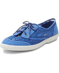 Diane von Furstenberg Bea Crochet Sneaker blue - Lyst