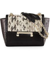 Diane von Furstenberg Mini Snakeskin Crossbody Bag - Lyst