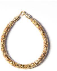 Peppercotton The Jewel Thief Swarovski Crystal And Goldtone Bracelet - Metallic