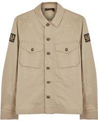 Belstaff Sampson Stone Cotton Jacket - Natural