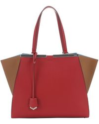 Fendi Brick And Barley Colorblock Leather '3Jours' Large Trapeze Bag - Lyst