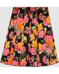 Gucci | Acid Bloom Pleated Skirt | Lyst