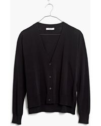 Madewell Cardigan Crop Sweater - Lyst