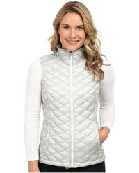 The North Face Gray Thermoball Vest - Lyst