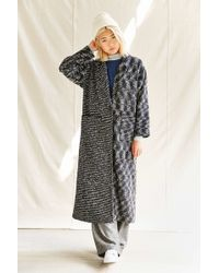 Urban Renewal Remade One Button Maxi Coat - Gray