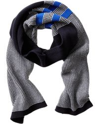Banana Republic Two Color Textured Scarf Navy - Lyst