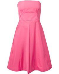 RED Valentino Strapless Flared Dress - Lyst