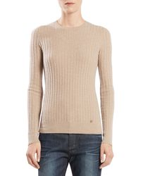 Gucci Cable Knit Crewneck Sweater - Lyst