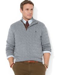 Polo Ralph Lauren Big And Tall Cable-Knit Tussah Silk Sweater - Lyst