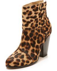 Rag & Bone Newbury Leopard-Print Calf Hair Ankle Boots - Multicolour
