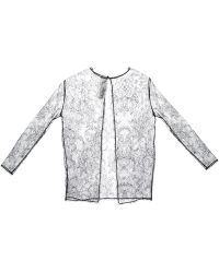 Anne Valerie Hash - Sheer Floral Lace Top - Lyst