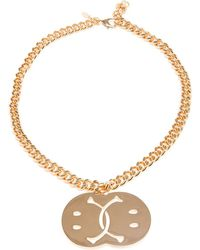 Moschino - Smiley Face Necklace - Lyst