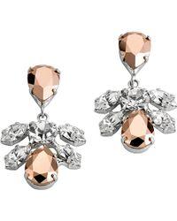 Mews London - Mini Cluster Rose Earrings - Lyst