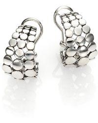 John Hardy | Dot Sterling Silver Buddha Belly Earrings | Lyst