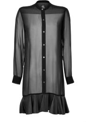 McQ by Alexander McQueen Ruffle Hem Shirt Dress - Lyst