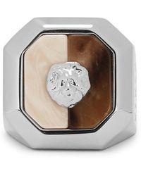 Versus - Silver Tone Medusa Ring - Lyst