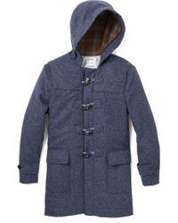 Brooklyn Tailors Shetland Tweed Duffle Coat - Lyst