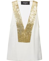 DSquared2 Sequin Top - Lyst