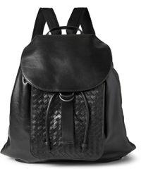 Bottega Veneta Intrecciato Leather Backpack - Lyst