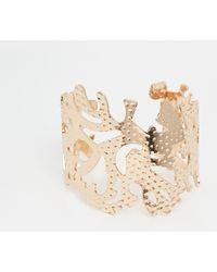 Coast Cage Cuff Bracelet - Metallic