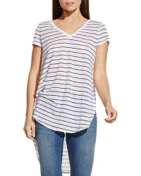 Two By Vince Camuto - Striped High/low Tee - Lyst