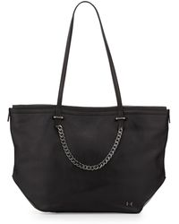 Halston Heritage Leather Chain-Strap Tote Bag black - Lyst