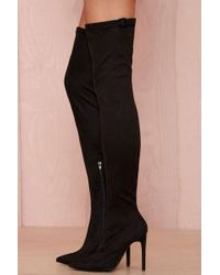 b5aca9bfb9bebb Nasty Gal - Jeffrey Campbell Superfreak Leather Thigh High Boot - Lyst