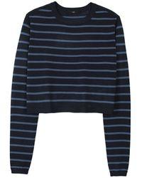 Tibi Nautical Stripe Cropped Pullover - Lyst
