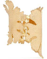 Alexander McQueen Lotus Flower Bangle gold - Lyst