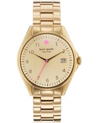 Kate Spade Seaport Grand Goldtone Stainless Steel Bracelet Watch gold - Lyst
