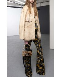 Giambattista Valli Kid Jacket With Alpaca And Persian Lamb - Lyst