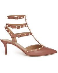 Valentino 'Rockstud' Caged Leather Pumps - Lyst