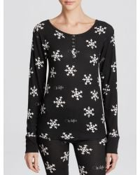 Wildfox Tee - Snowflake Thermal Knit Henley - Lyst