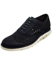 Cole Haan Zerogrand Suede Wing-Tip Oxford - Lyst