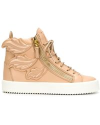 Giuseppe Zanotti 'cruel' Hi-top Sneakers - Natural