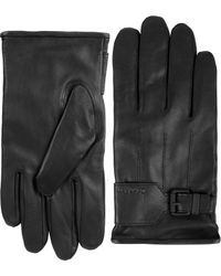 CALVIN KLEIN 205W39NYC - Architectural Belted Leather Gloves - Lyst