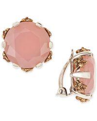 Stephen Dweck - Pink Chalcedony Stud Clipon Earrings - Lyst