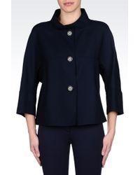 Armani Singlebreasted Wool Pea Coat - Lyst