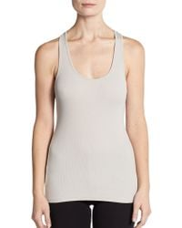 James Perse Ribbed Racerback Tank Top - Lyst