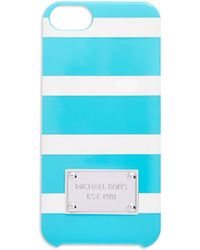 MICHAEL Michael Kors Snap-On Iphone 5 And 5S Case blue - Lyst