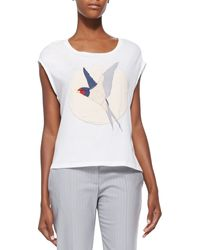 Stella McCartney Starling Bird-applique T-shirt - Lyst