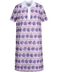 Andrea Incontri Purple Short Dress - Lyst