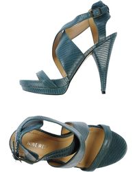 Nine West Sandals green - Lyst