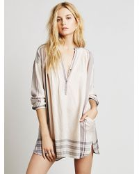 Free People Womens Long Sleeve Yarn Dye Lurex Tunic - Lyst